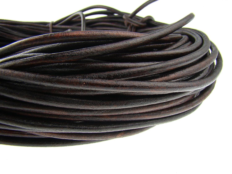 Piel cuerda redondo 6/mm. marr/ón 5 m
