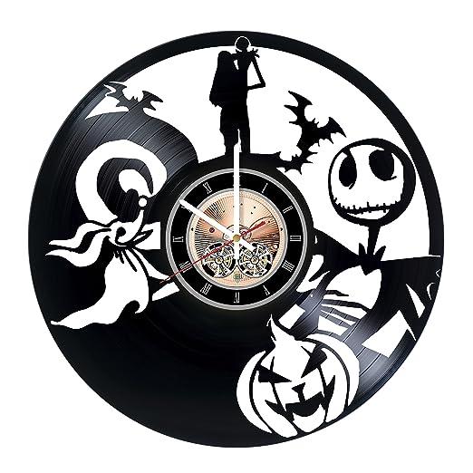 Amazon.com: Pesadilla antes de Navidad niños de vinilo reloj ...