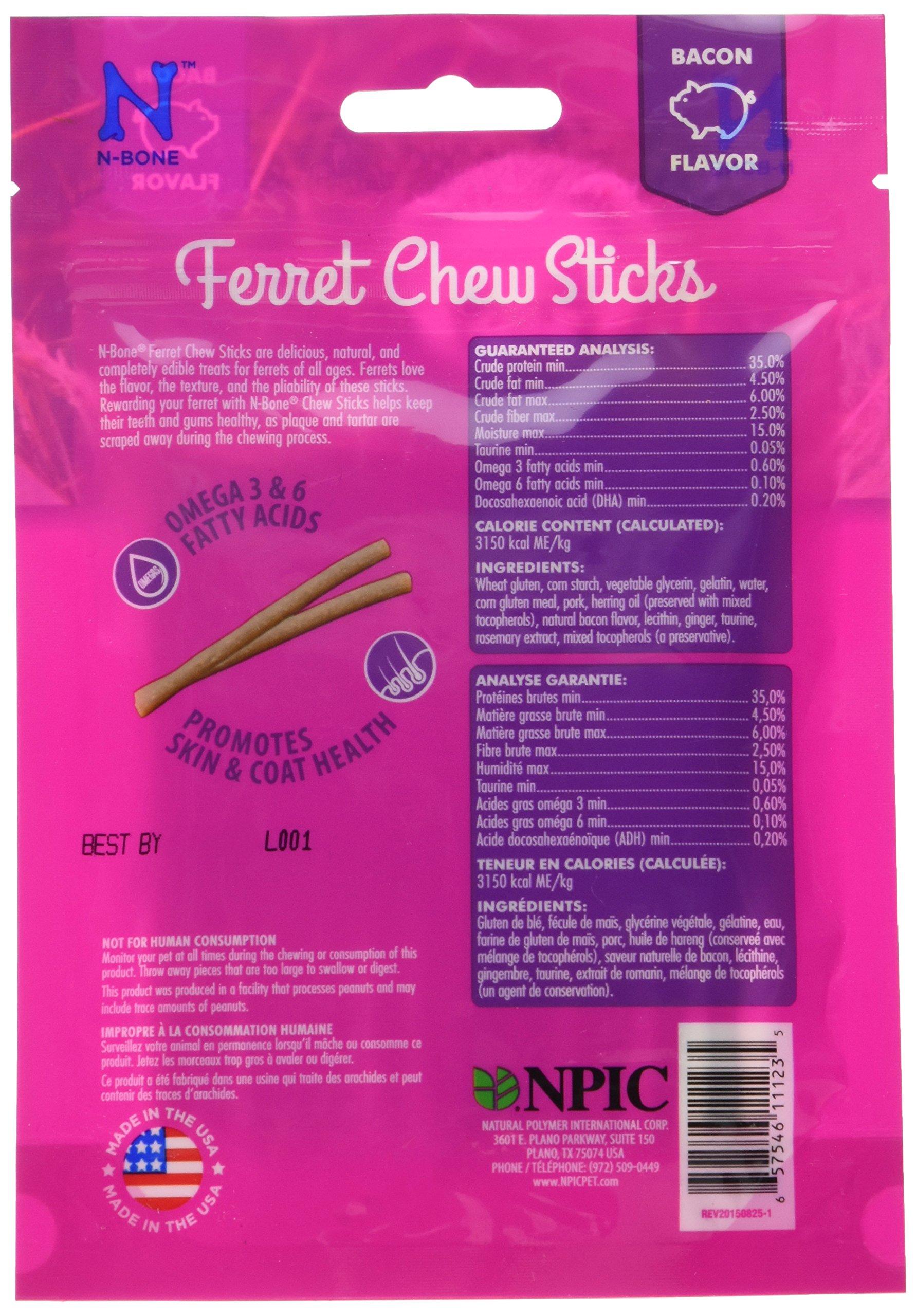 N-Bone 1.87 Oz. Ferret Bacon Flavor Chew Treats by N-Bone (Image #4)
