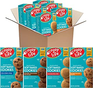 product image for Enjoy Life Soft Baked Cookies Variety Pack, Soy Free, Dairy Free, Non GMO, Gluten Free, Vegan, Nut Free Cookies, 6 Boxes