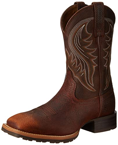Ariat Mens Hybrid Rancher Western Boot       Brown Oiled Rowdy