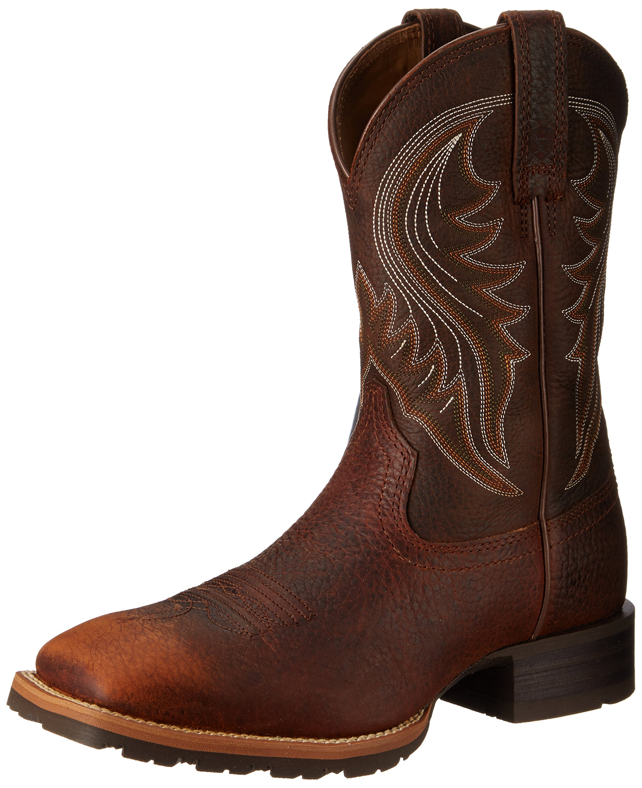 Ariat Men's Hybrid Rancher Western Boot, Brown Oiled Rowdy, 11.5 M US