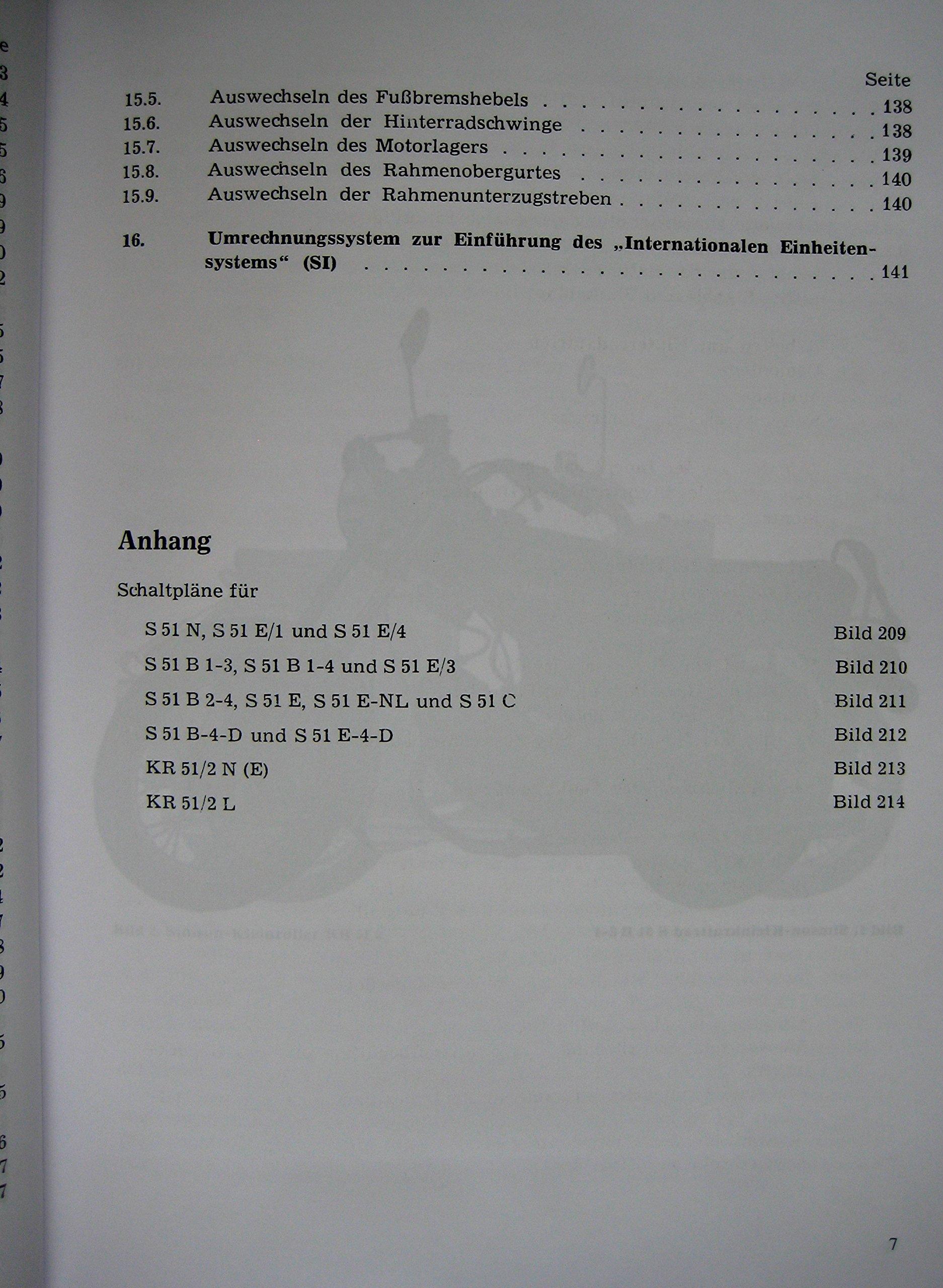 Reparaturanleitung Simson Schwalbe KR 51/2 und SIMSON S 51 mit ...