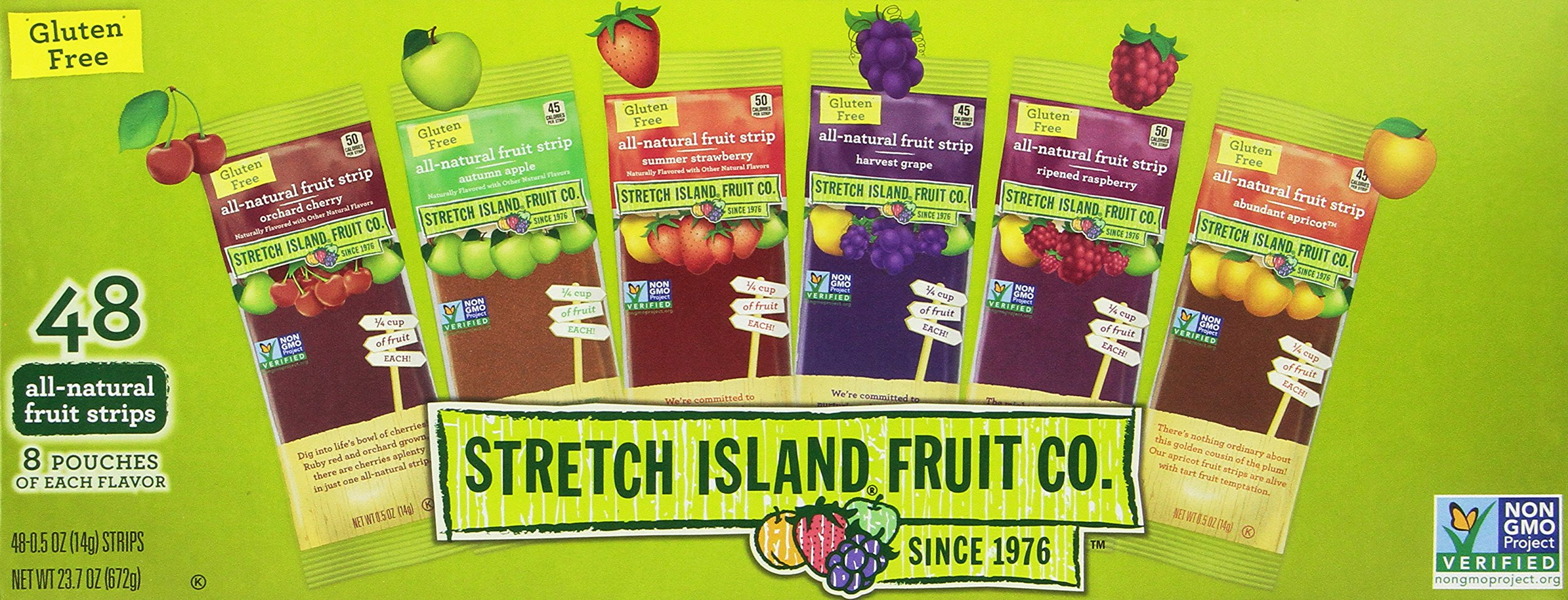 Stretch Island Fruit Leather Variety Pack 48-Count, 0.5-Ounce Package (Pack of 2)