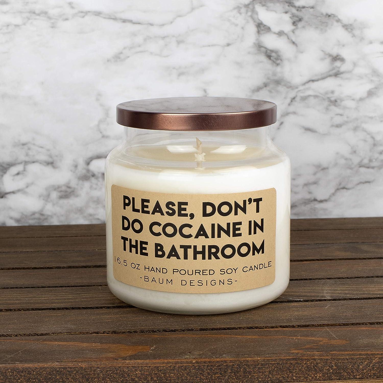 Amazon Com Please Don T Do Cocaine In The Bathroom Soy Candle Handmade