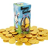 Easter Bunny Milk Chocolate Belgian Gold Coins, OU-D, Nut-Free, 1LB