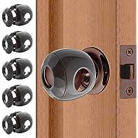 Bronze - Door knob Baby Safety Cover - 5 Pack - Deter Little Kids from Opening Doors with A Child Proof Door Handle Lock…