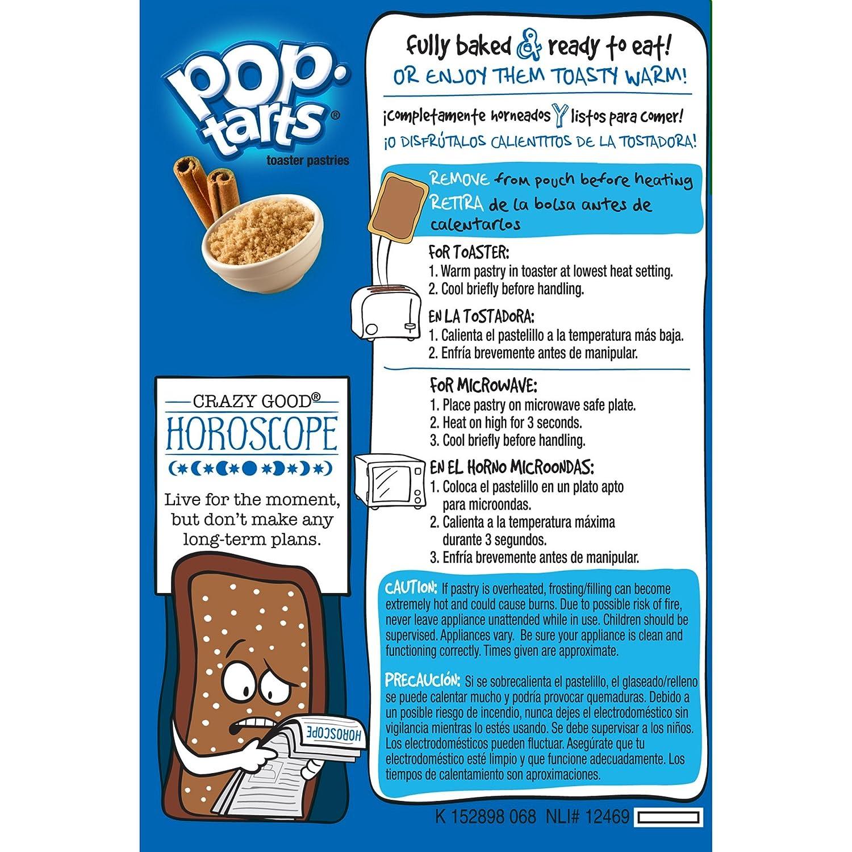 Kelloggs Brown Sugar Cinnamon Pop-Tarts Toaster Pastries, 16 ct (Pack of 2)