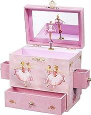 Enchantmints Amigos caja de música de ballet, Bailarina, Rosado
