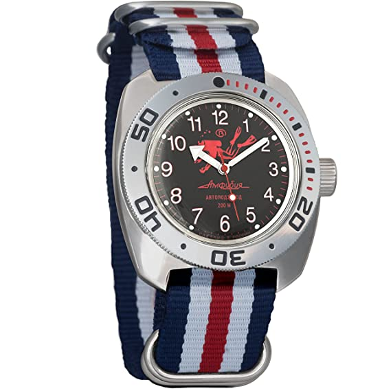 Vostok Buceador de anfibios Dude Diver automático Mens Reloj de pulsera militares anfibios Ministerio caso reloj de pulsera # 710657: Amazon.es: Relojes