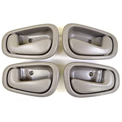 PT Auto Warehouse TO-2543G-QP - Inside Interior Inner Door Handle, Gray - Manual Lock, 2 Left, 2 Right: Automotive