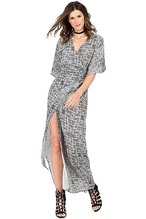 29106f7d131 Standards   Practices Modern Women s Zebra Woven Chiffon Kimono Wrap Maxi  Dress Size ...
