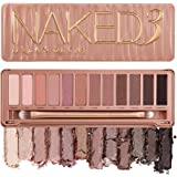Urban Decay Naked3 Eyeshadow Palette, 12 Versatile Rosy Neutral Shades for Every Day - Ultra-Blendable, Rich Colors with Velv