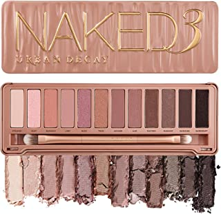 product image for Urban Decay Naked3 Eyeshadow Palette, 12 Versatile Rosy Neutral Shades for Every Day - Ultra-Blendable, Rich Colors with Velvety Texture - Set Includes Mirror & Double-Ended Makeup Brush