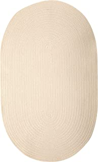 product image for Colonial Mills Bristol Polypropylene Braided Rug, 3-Feet by 5-Feet, Natural