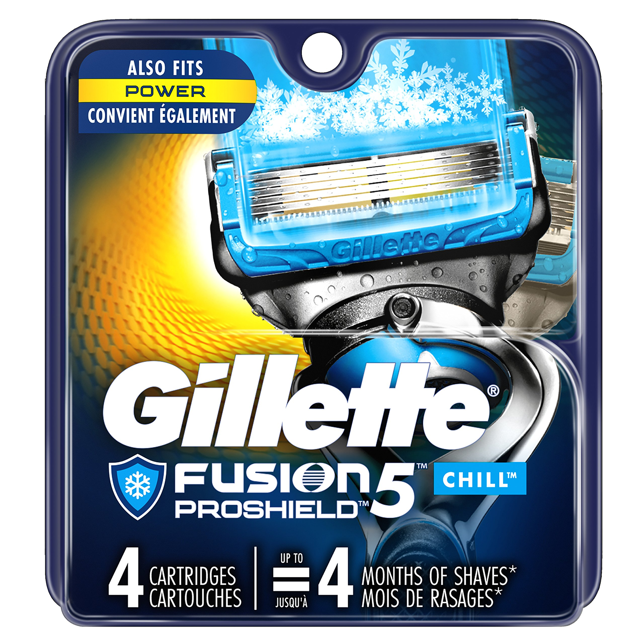 Gillette fusion five blades for a crazy ace shave