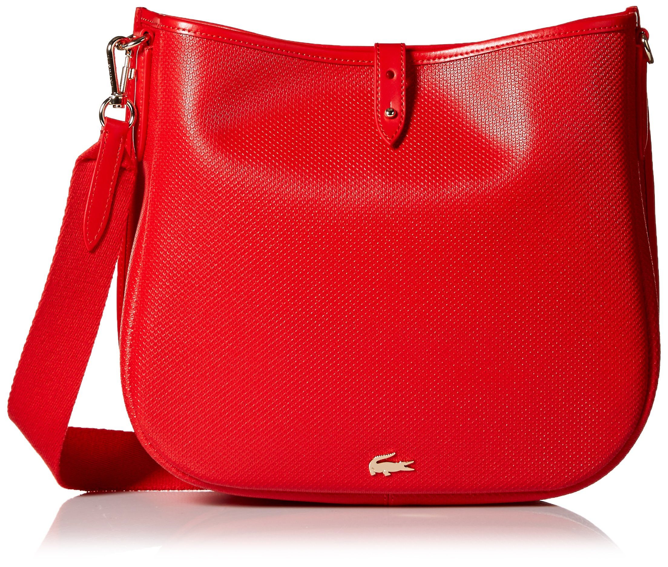 Lacoste Hobo Bag, Nf2118ce, High Risk Red