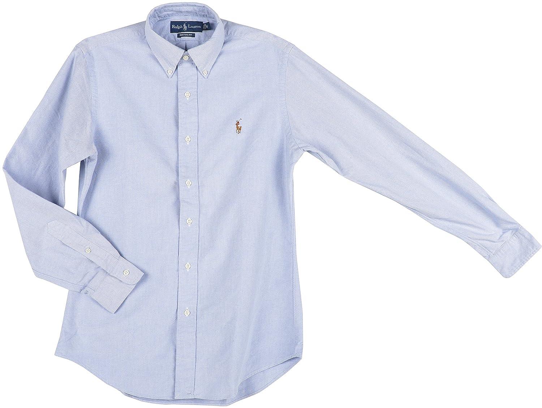 Amazon.com: Polo Ralph Lauren Men\u0027s CLS Button Down Shirt: Light Blue/Sml  Logo R (small): Clothing