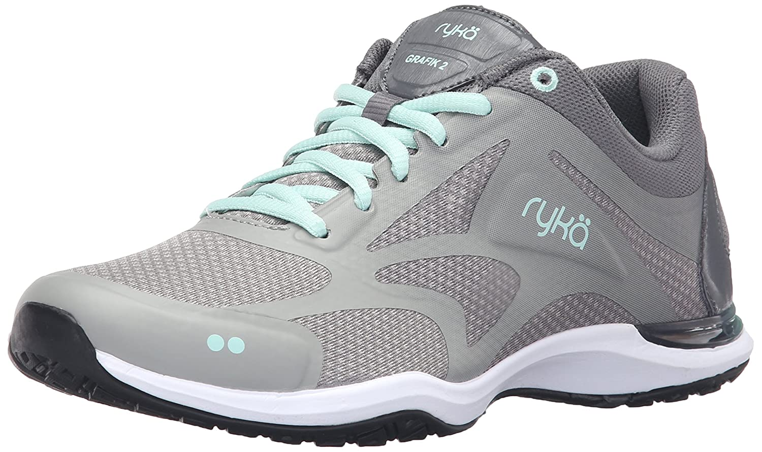 Ryka Women's Grafik 2 Cross-Trainer Shoe B01A6203AI 6.5 B(M) US|Grey/Mint