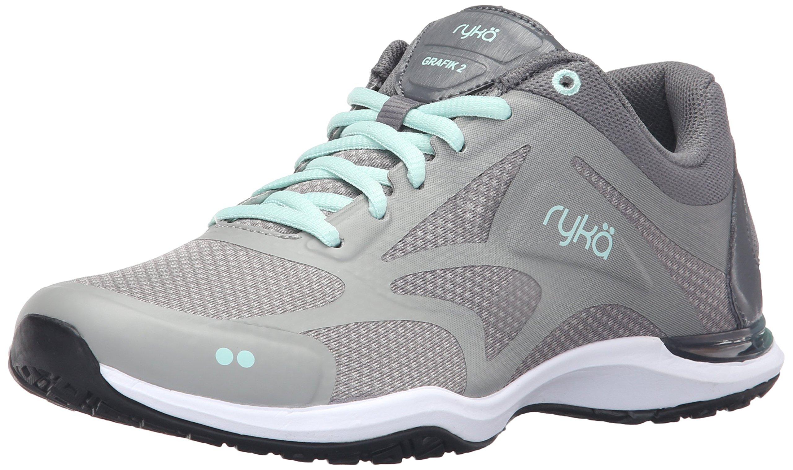 Ryka Women's Grafik 2 Cross-Trainer Shoe, Grey/Mint, 6.5 M US