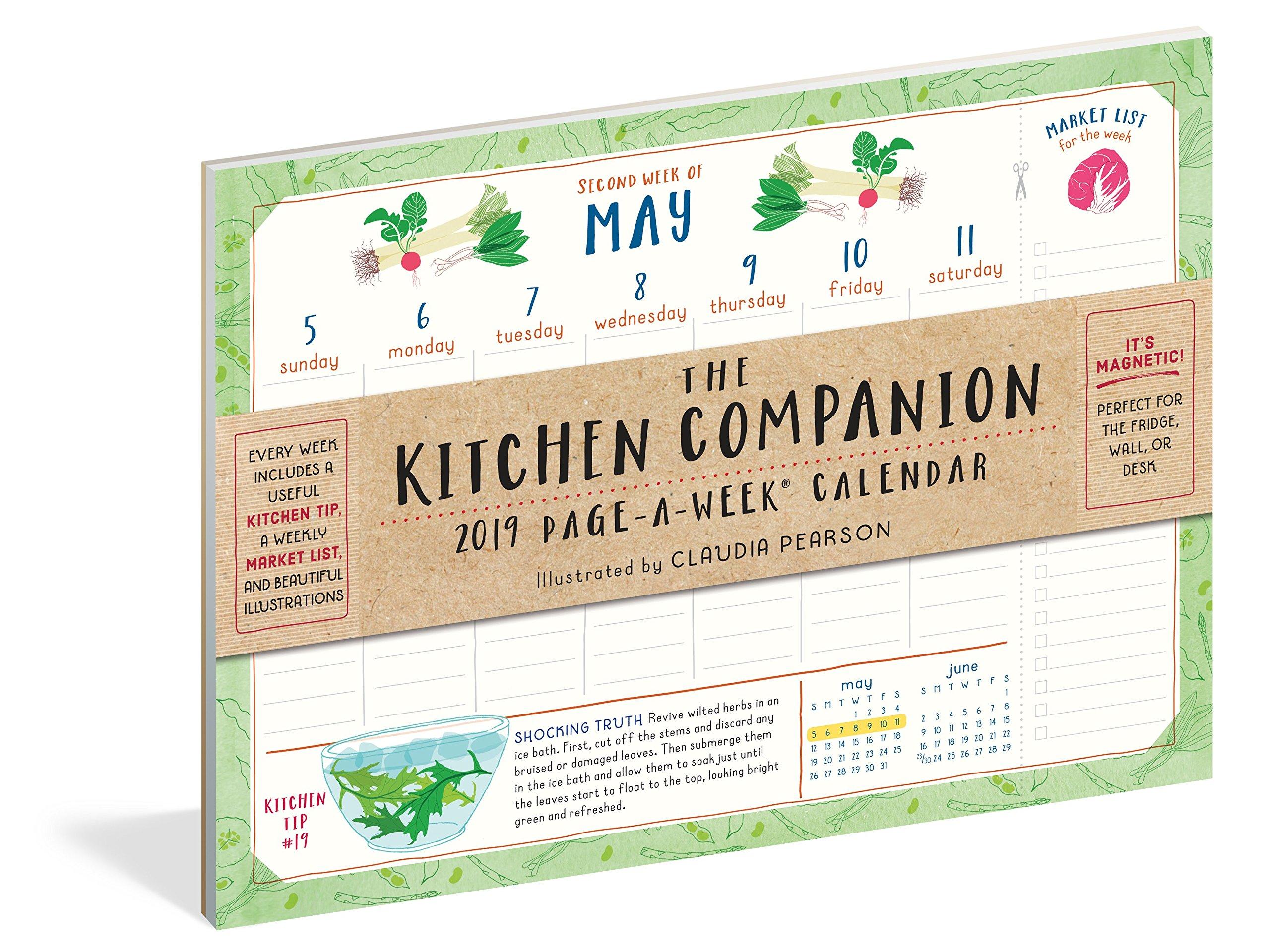 The Kitchen Companion Page-A-Week Calendar 2019