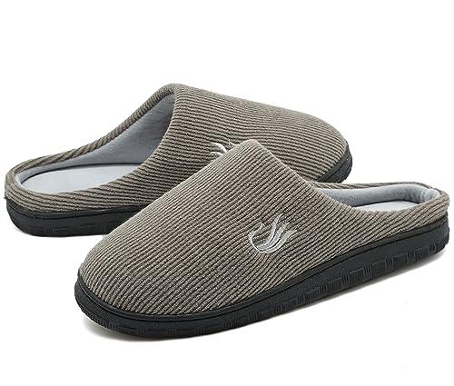 Hombres de zapato de Casual interior cálido algodón, 2, mediano