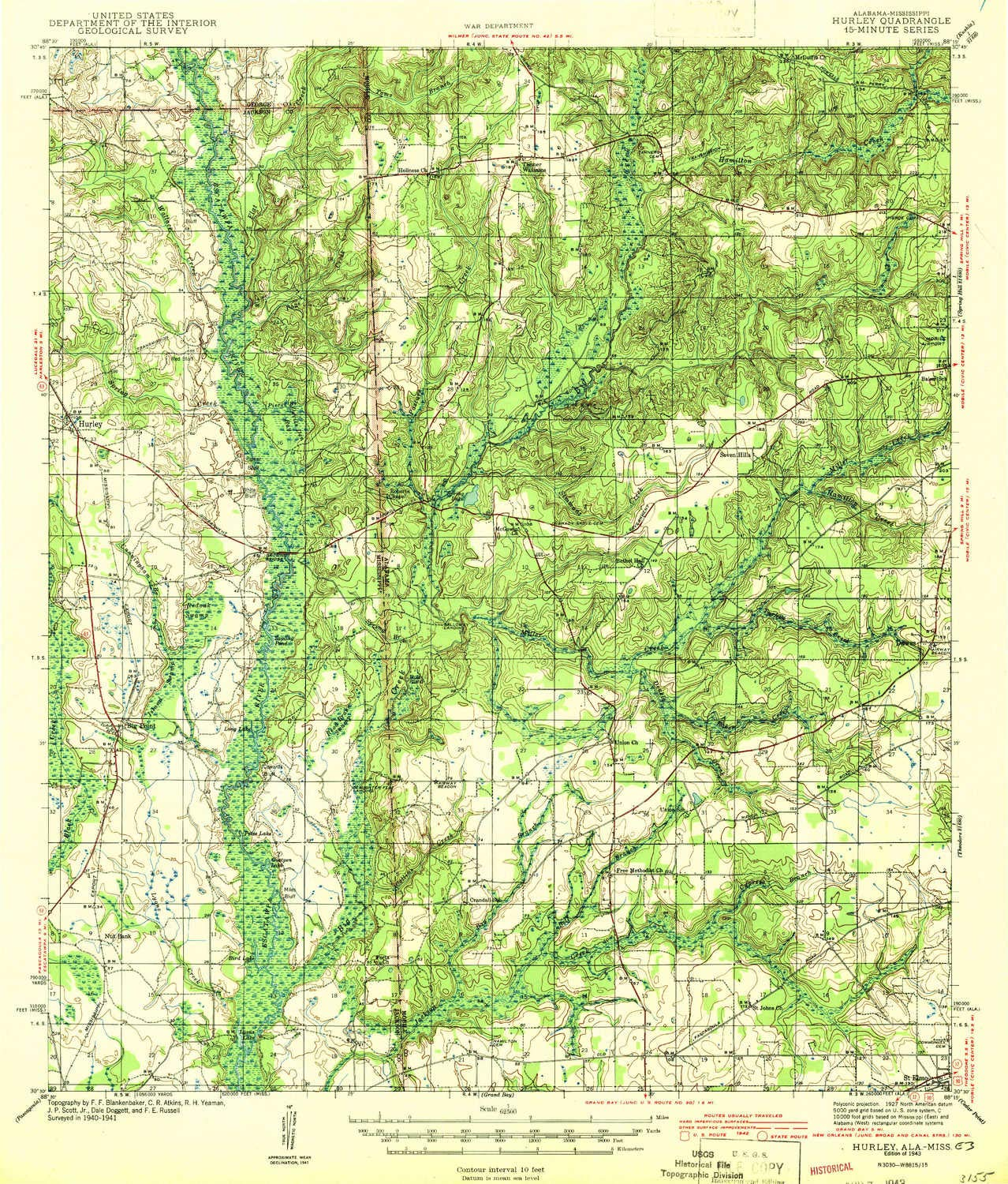 Topographic Map Mississippi.Amazon Com Yellowmaps Hurley Ms Topo Map 1 62500 Scale 15 X 15
