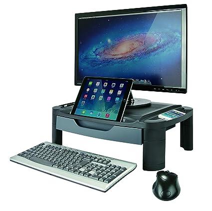 AIDATA Professional Height Adjustable Monitor Stand Desk Organizer