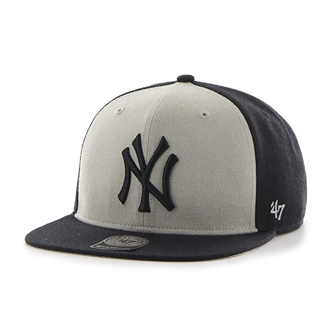 4216f79d '47 MLB New York Yankees Sure Shot Accent Captain Adjustable Snapback Hat,  One Size