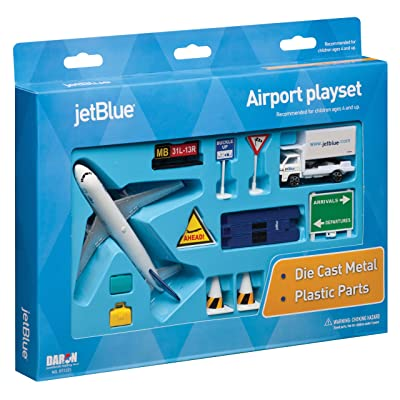 JetBlue Die-Cast Airport Playset (11 Pieces in set): Toys & Games