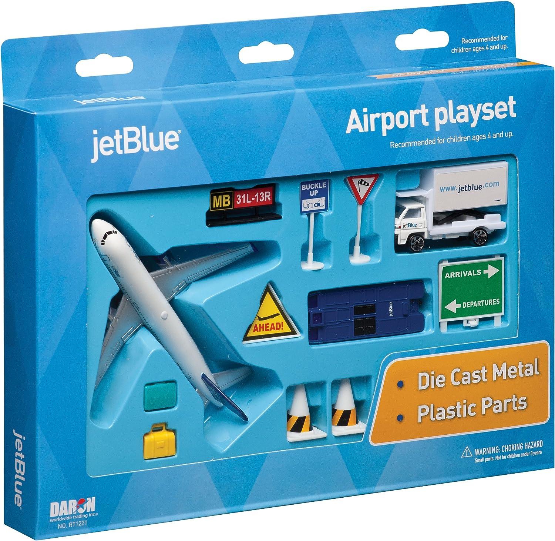 Daron JetBlue Airlines Die Cast Metal Airport Play Set