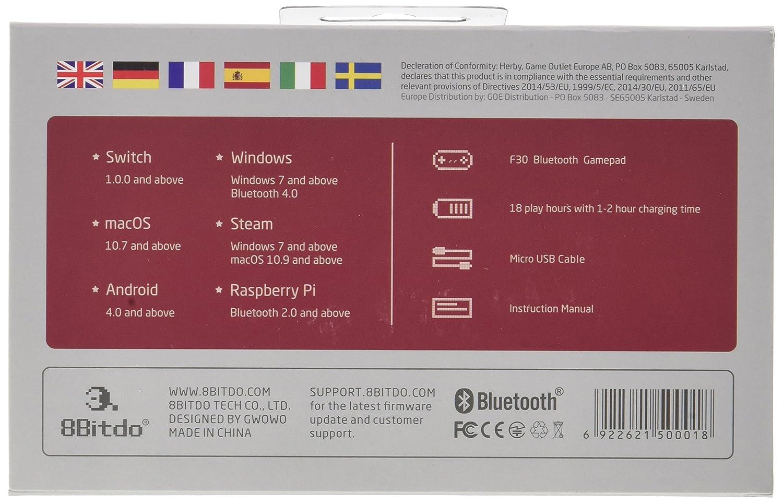 8Bitdo NES30 Retro Bluetooth Mobile Gaming Controller Straight Forward Sales FC30