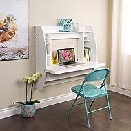 Prepac WEHW-0200-1 Floating Desk with Storage, White