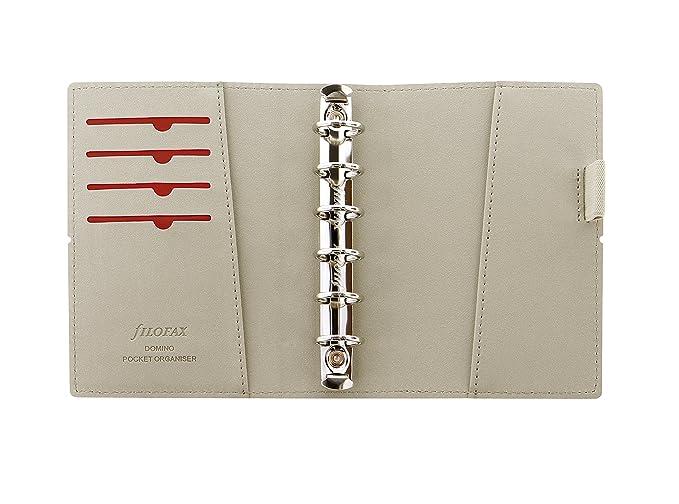 Filofax Pocket Domino - Agenda de anillas, color rojo