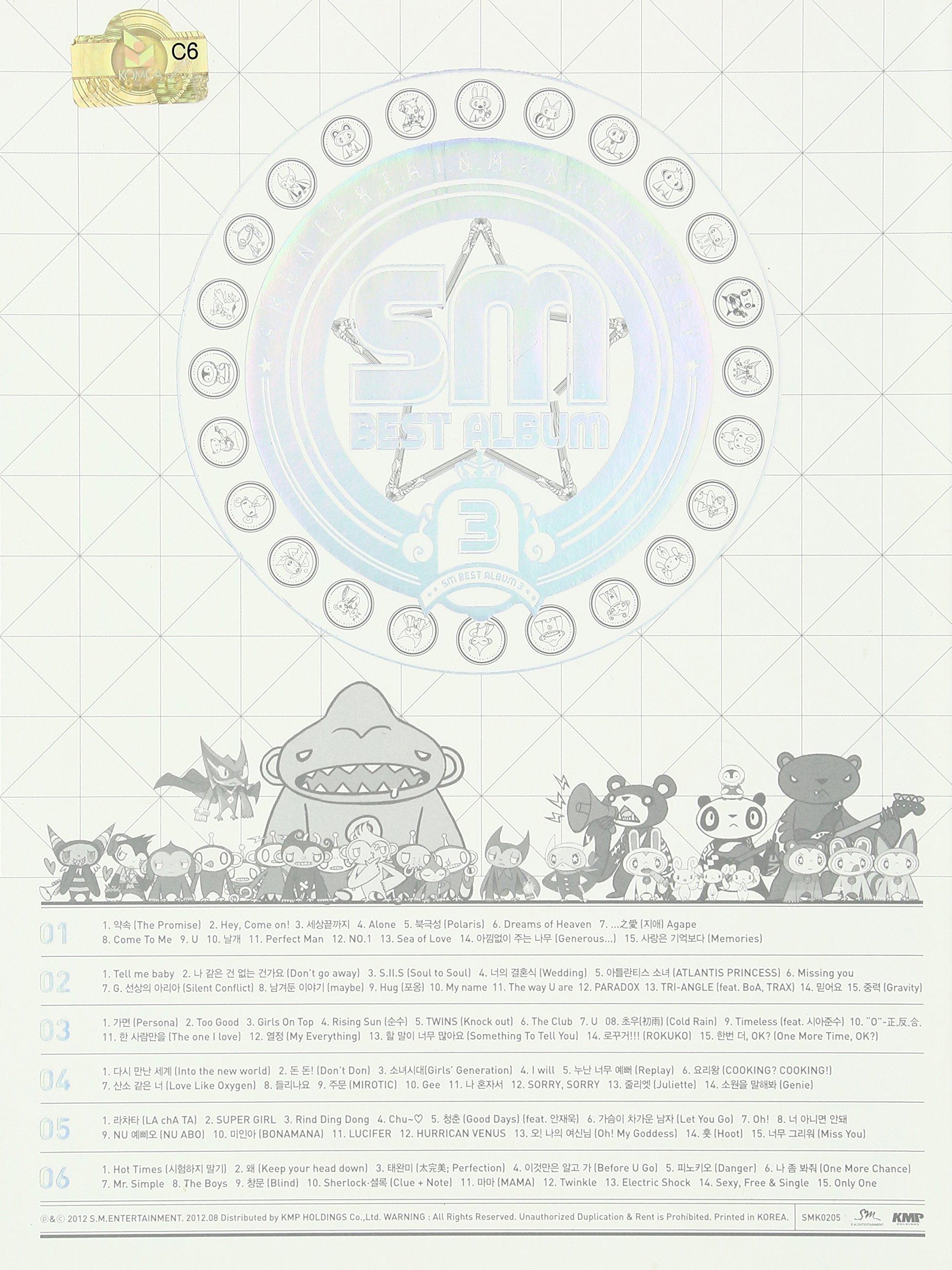 SM Best Album 3 / Various by Sm Entertainment Kr