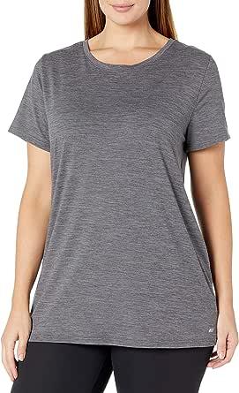 Amazon Essentials Women's Plus Size Tech Stretch Short-Sleeve Crewneck T-Shirt