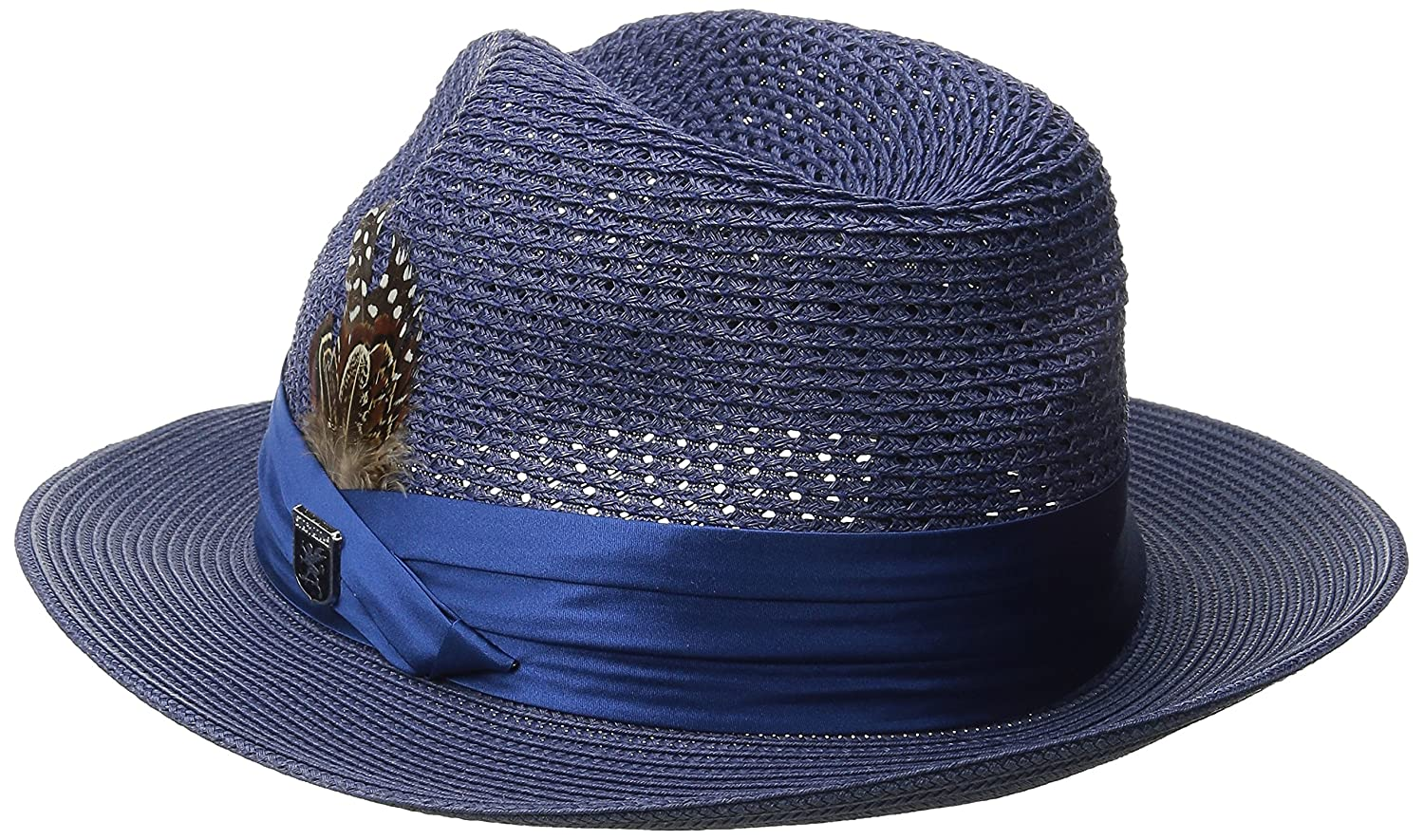 1f0d65d9206b2 STACY ADAMS Men s Paper Milan Pinch Front Fedora at Amazon Men s Clothing  store
