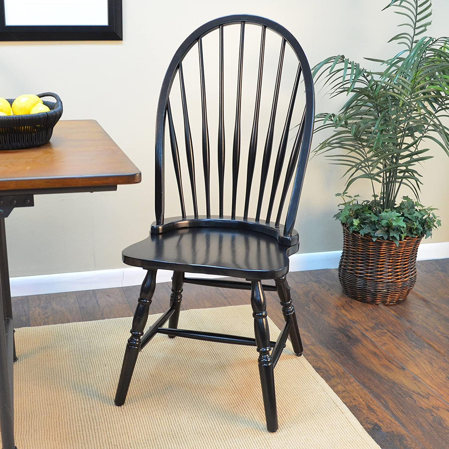 Amazon Carolina Classic Cottage Windsor Chair Antique Black