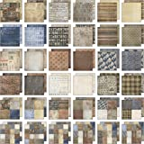 Tim Holtz Idea-ology Paper Stash, Dapper, 36 Sheets of 12 x 12 Inch Double-sided Cardstock Papers in Brown, Beige, Brown (TH9