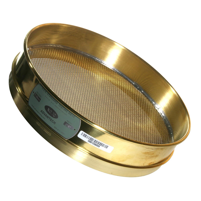 Advantech Brass Brush Sieves 8 Diameter #10 Mesh Full Height