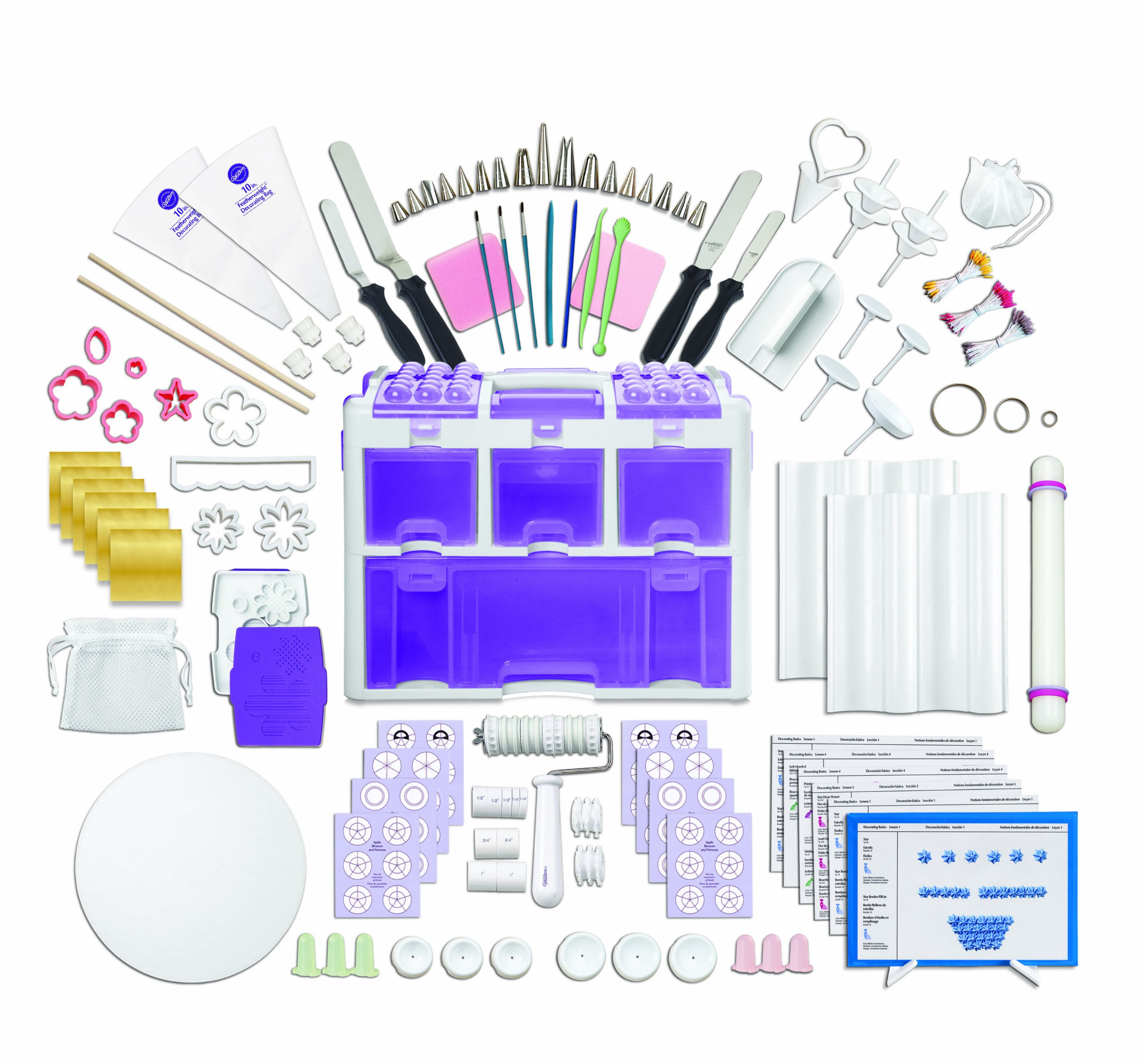 Wilton 2109-0309 Ultimate Professional Cake Decorating Set, Purple- Discontinued By Manufacturer by Wilton