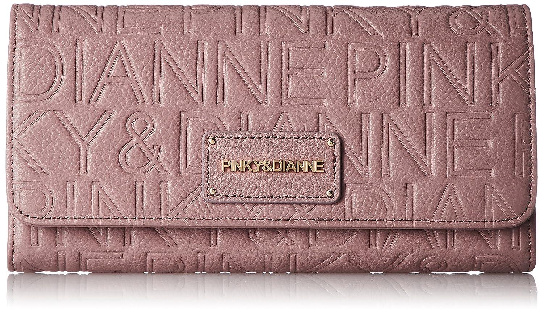[ピンキーアンドダイアン] 長財布 【パレード】ロゴ型押し エンボス カブセボタン開閉 PDLW7FT2 B007T2FRBY ピンク ピンク