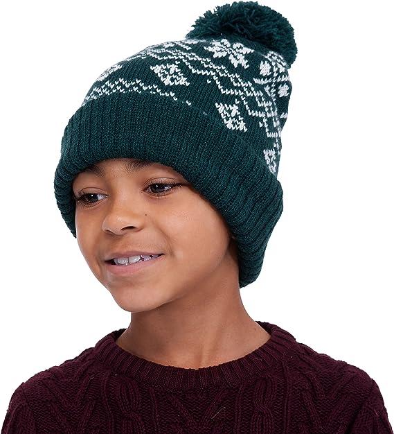 Beechfield Childrens//Kids Fairisle Knitted Hat
