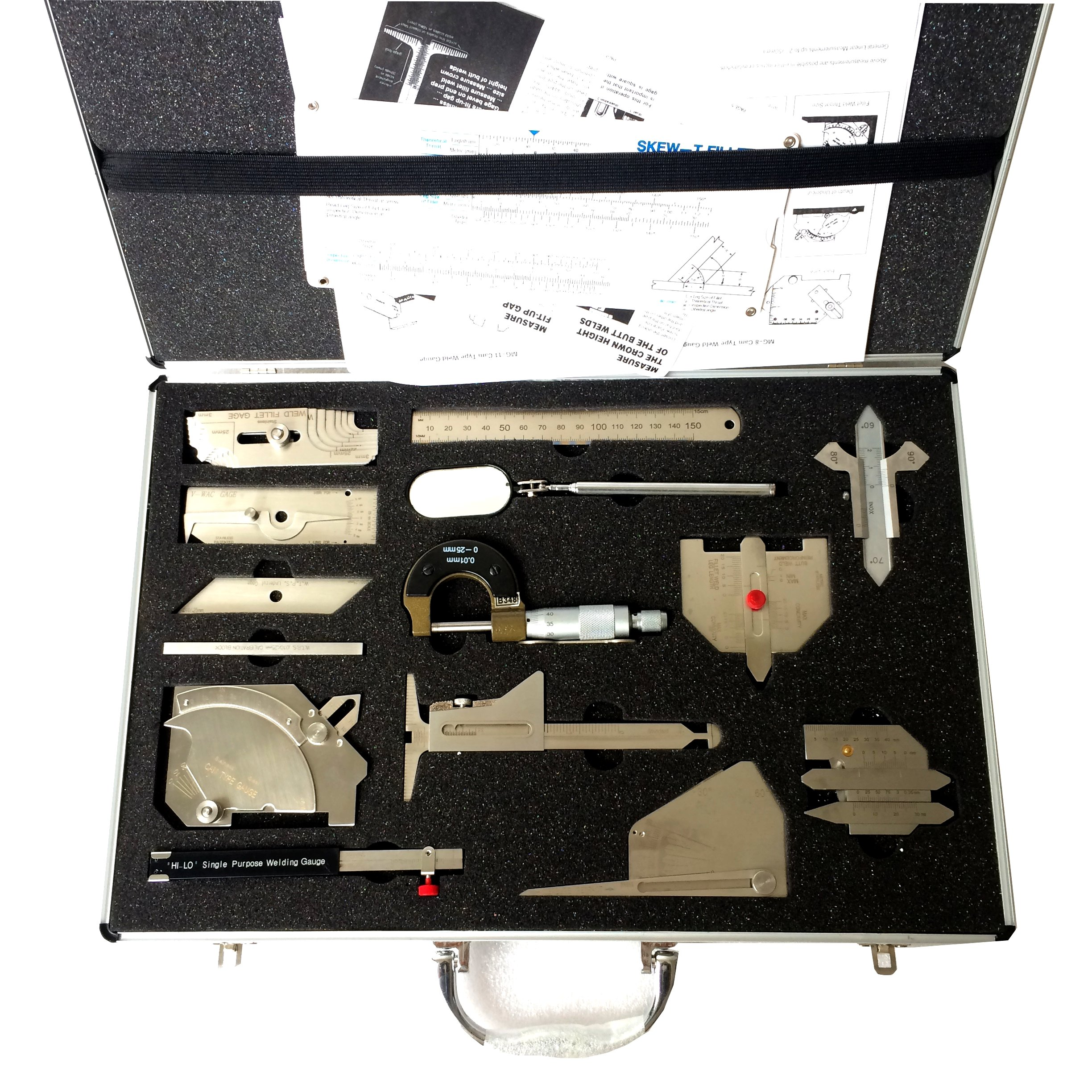 JINSLU Welding Tool Kit Welding Measure Gauge Combine Suit 13 Piece /Set test ulnar welder inspection welding gauge