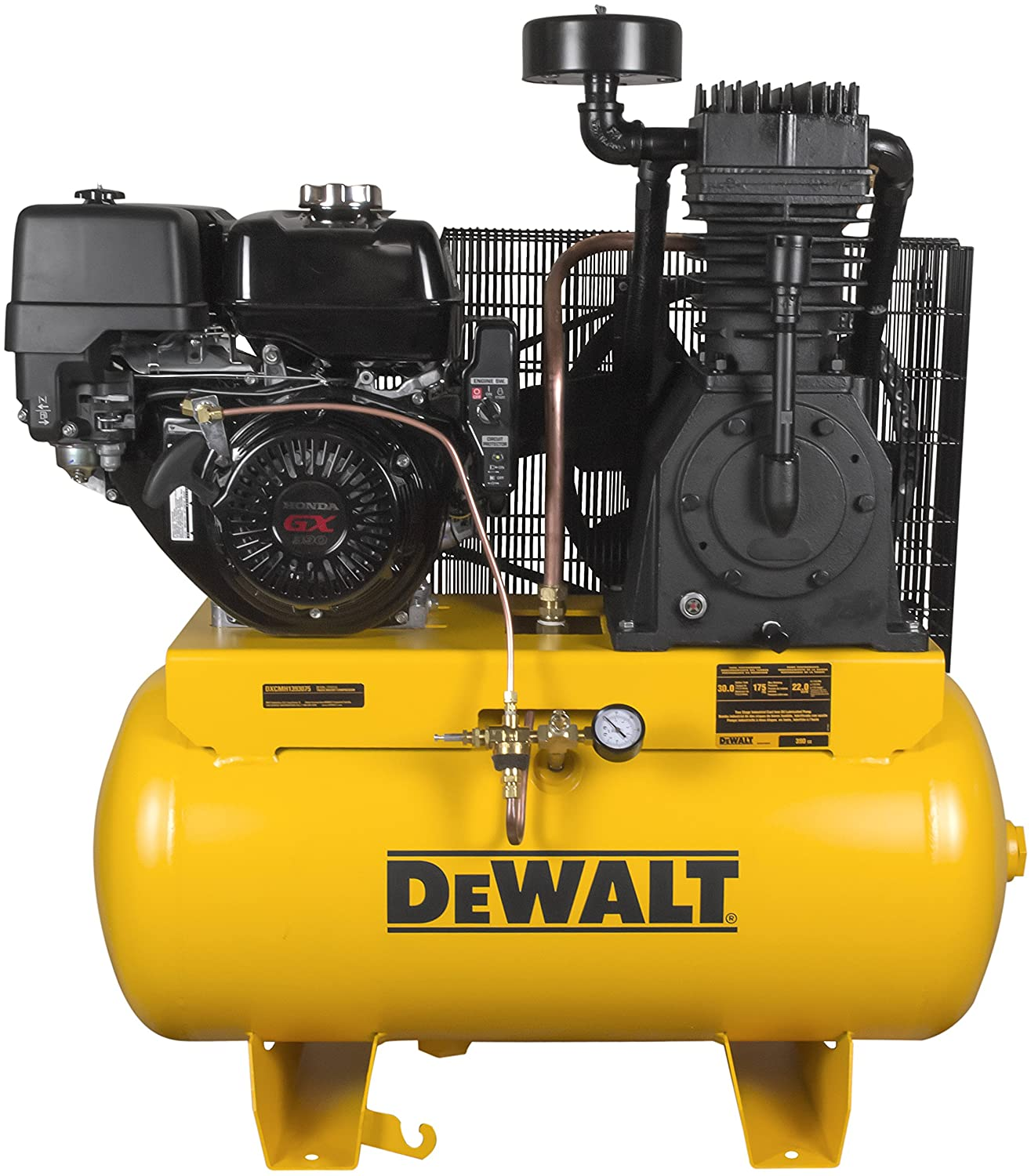 Amazon.com: DeWalt DXCMH1393075 Two Stage Industrial Air Compressor,  30-Gallon, Cast Iron: Home Improvement