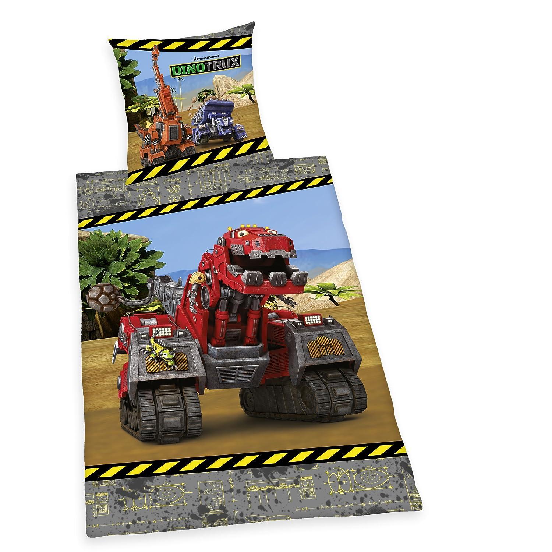 DinoTrux T-Rux Bed Linen Multi-Colour 200 x 135 x 0.2 cm Cotton