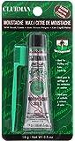 Clubman Moustache Wax Hang Pack - Brown, 0.5 oz