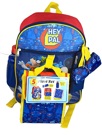 b27599b6455a Image Unavailable. Image not available for. Color  Mickey Mouse Character  Super 5-Piece Backpack Set