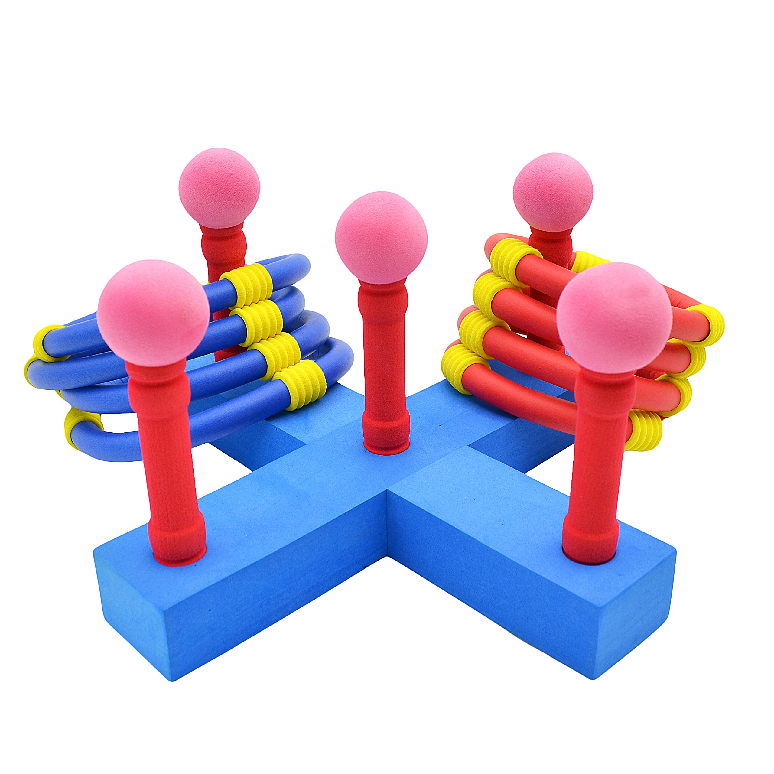 Agirlgle Ring Toss Games For Kids and Outdoor Toys Keep Kids Active-Outdoor Kids Games for Tailgating, Camping, Backyard and Garden- Easy to Assemble and Made of EVA Foam Soft Materials Safety for Kid by Agirlgle
