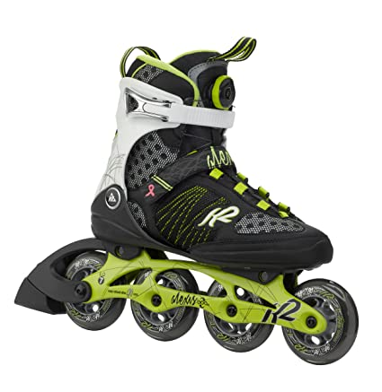 d7863ae94a4 Amazon.com : K2 Skate Women's Alexis Boa Inline Skates, Lime/Black ...